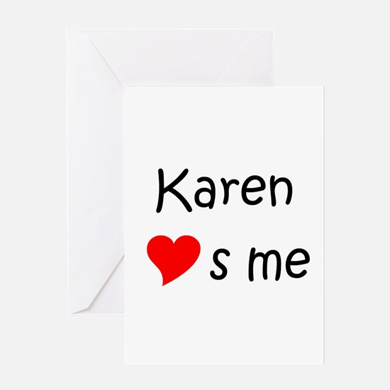 Unique Heart karen Greeting Card