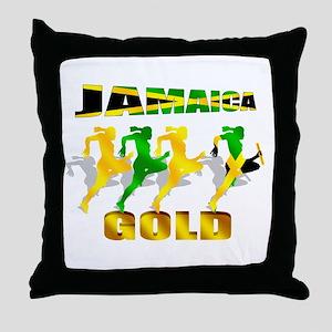 Jamaica Athletics Throw Pillow