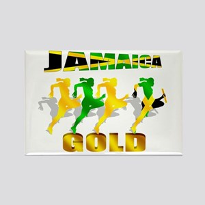 Jamaica Athletics Rectangle Magnet