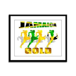Jamaica Athletics Framed Panel Print