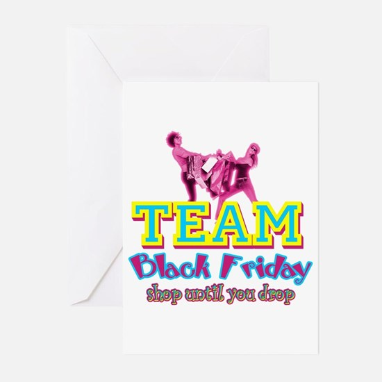 Team Black Friday Greeting Cards (Pk of 10)