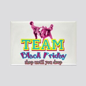 Team Black Friday Rectangle Magnet