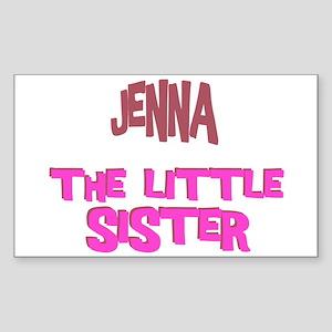 Jenna - The Little Sister Rectangle Sticker