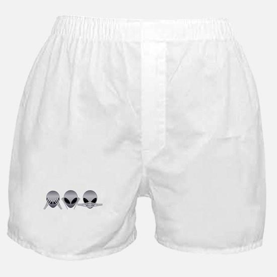 See No Evil Alien Boxer Shorts