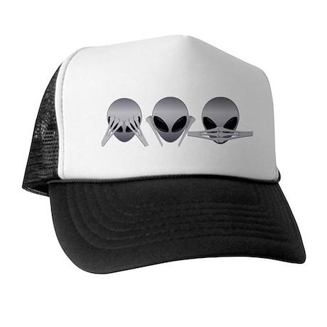 See No Evil Alien Trucker Hat