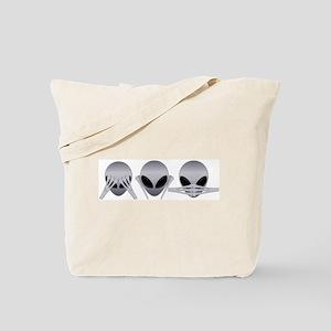 See No Evil Alien Tote Bag