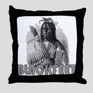 BLACKFEET INDIAN CHIEF Throw Pillow