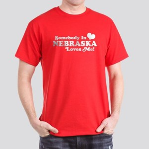Somebody in Nebraska Loves Me Dark T-Shirt