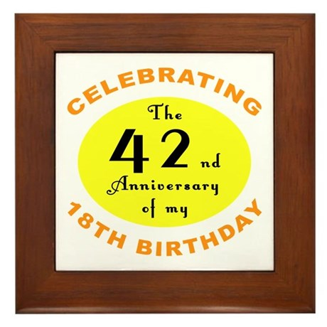 Celebrating 60th Birthday Framed Tile