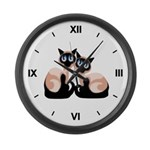 Siamese Twins Large Wall Clock