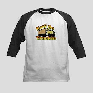 Keep On Truckin Kids Baseball Jersey
