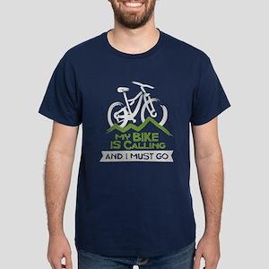 My Bike is Calling Dark T-Shirt
