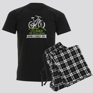 My Bike is Calling Men's Dark Pajamas