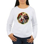 Santa's German Shepherd #15 Women's Long Sleeve T-