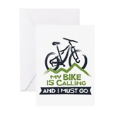 Mountain biking Greeting Cards