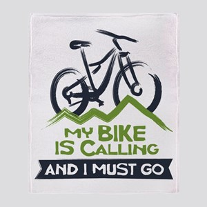 My Bike is Calling Throw Blanket