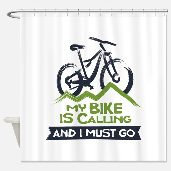 My Bike is Calling Shower Curtain