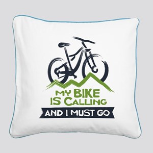 My Bike is Calling Square Canvas Pillow