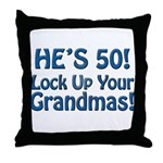 50th Birthday Gifts Throw Pillow