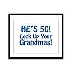 50th Birthday Gifts Framed Panel Print