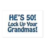 50th Birthday Gifts Postcards (Package of 8)