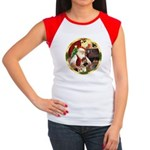 Santa's German Shepherd #13 Women's Cap Sleeve T-S