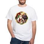 Santa's German Shepherd #13 White T-Shirt