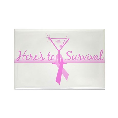 Here's to Survival Rectangle Magnet (100 pack)