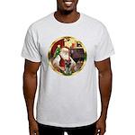 Santa's German Shepherd #12 Light T-Shirt