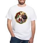 Santa's German Shepherd #12 White T-Shirt