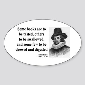 Francis Bacon Quote 5 Oval Sticker