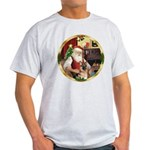 Santa's German Shepherd #11 Light T-Shirt