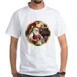 Santa's German Shepherd #11 White T-Shirt