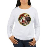 Santa's German Shepherd #11 Women's Long Sleeve T-