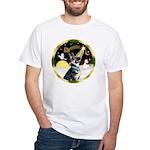 Night Flight/German Shepherd #15 White T-Shirt