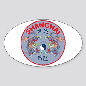 Shanghai Dragons Oval Sticker