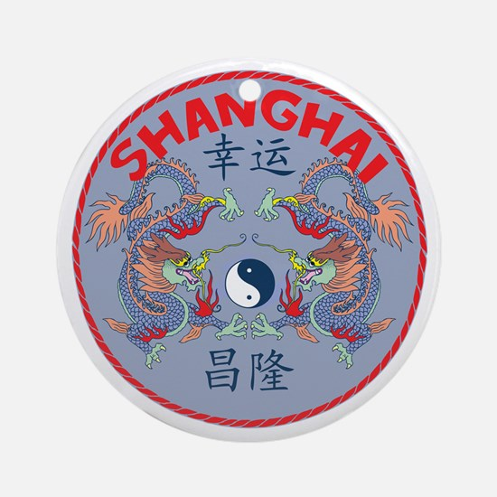 Shanghai Dragons Ornament (Round)