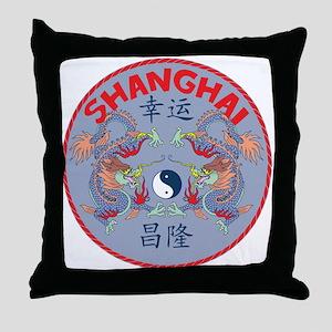 Shanghai Dragons Throw Pillow