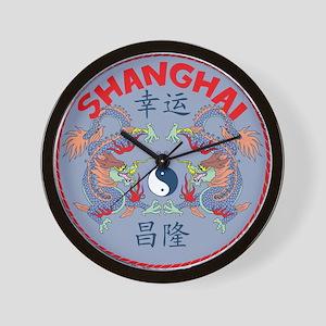 Shanghai Dragons Wall Clock
