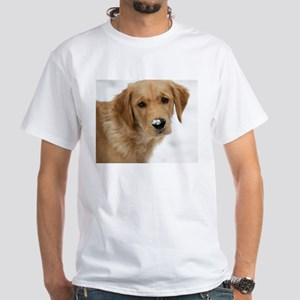 Snowy Nose Golden White T-Shirt