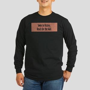 Swim Slogan Long Sleeve Dark T-Shirt