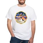 XmasStar/Rat Terrier White T-Shirt