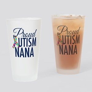 Autism Nana Drinking Glass