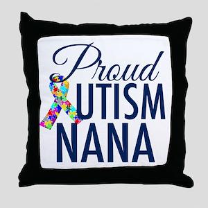 Autism Nana Throw Pillow