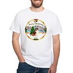 XmasMusic3/Sheltie 7 White T-Shirt