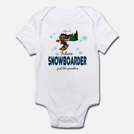 Future Snowboarder Like Grandma Infant Bodysuit