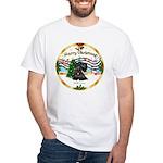 XmasMusic1MCL/Scottie #12 White T-Shirt
