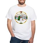 XmasMusic1MCL/Papillon White T-Shirt