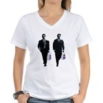 Kray twins Women's V-Neck T-Shirt