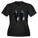Kray twins Women's Plus Size V-Neck Dark T-Shirt
